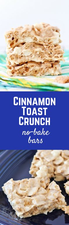 These Cinnamon Toast Crunch No-Bake Bars are undeniably sweet and gooey – and the cinnamon will have you coming back for more. Get the easy recipe on RachelCooks.com - the kid in you will be happy you did!