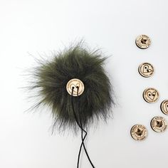 Olive Black Faux Fur Pom Poms – Warehouse 2020 More Code, Faux Fur Pom Pom, Black Nylons, Pom Poms, Warehouse, Olive Green, How To Make, Color, Colour
