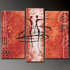 Modern Abstract Figures Multiple Canvas Painting