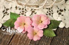 Primula with stitching-Agiart Fabric Flowers, Paper Flowers, Paper Flower Tutorial, Blog, Stitching, Alternative, Scrapbooking, Tutorials, Ideas