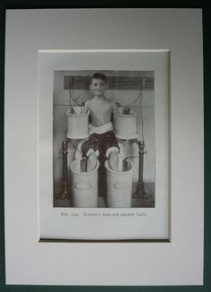 ☤ MD ☞☆☆☆ Vintage medical print of boy in electric by PrimrosePrints. See: http://www.pinterest.com/pin/287386019942122236/