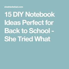 15 DIY Notebook Ideas Perfect for Back to School - She Tried What