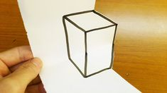 Very Easy! How To Drawing Box - Anamorphic Illusion for kids Anamorphic, Art Tips, Trick Art, Illusions, Make It Yourself, Drawings, Box, Easy, Kids