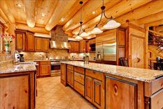 16 Amazing Log House Kitchens You Have to See   Tin Pig™