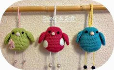 crochet tutorial for bird ♥ Diy Crochet Toys, Crochet Birds, Easter Crochet, Crochet Toys Patterns, Love Crochet, Amigurumi Patterns, Amigurumi Doll, Crochet Animals, Crochet Designs
