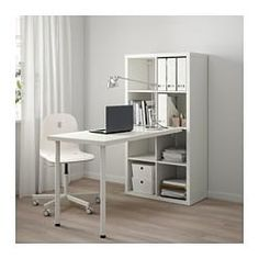 Best Images KALLAX desk combination - white Popular The IKEA Kallax series Storage furniture is an essential section of any home. Ikea Kallax Desk, Kallax Shelf Unit, Shelving Systems, Home Office Design, Home Office Decor, Home Decor, Office Ideas, Office Style, Office Designs