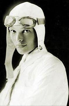 Amelia Earhart .. . stunning in white.