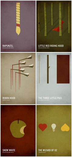 Minimalist Fairy Tale Posters by Christian Jackson.