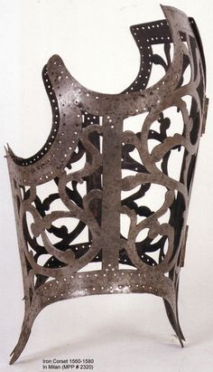 An iron corset, 16th century. There seems to be quite a bit of debate about what these contraptions were actually used for. Are they waist reducers? Ceremonial armour? Medical back support? Whatever the purpose, they are very lovely and sculptural. As weird as it may sound, I think it would be quite exciting to wear a pair!
