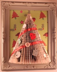 handmade xmas/christmas tree picture frame for sale on eBay