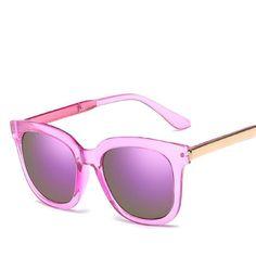 27f5ffb28a $9.99 Color: Purple Trendy Vintage UV400 Purple Sunglasses Purple Mirror  Coating For Women Uv400 Sunglasses