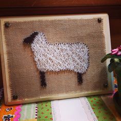 SHEEP String and Nail Wall Art by SeattleCrochet on Etsy