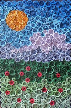 Quilling - rolled up paper art. Quilling Craft, Quilling Patterns, Quilling Designs, Paper Quilling, Quiling Paper Art, Arts And Crafts, Paper Crafts, Diy Crafts, Patchwork Quilt