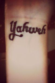 Yahweh Tattoo English