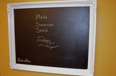 vintage white chalkboard frame