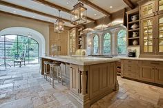 The Enchanted Home kitchen island.