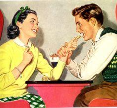 vintage 1946 cookies advertisement friendship romance