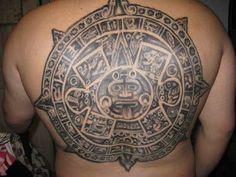 Aztec Calendar Stone Tattoo