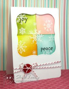 great idea for a Christmas card...could use scrap paper or distress inks!!