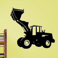 Cool Digger with Raised Arms Wall Sticker