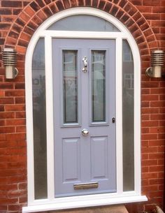 French Grey Solidor with Bespoke Satin Glass, Urmston
