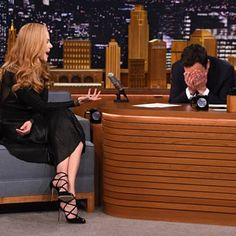 Nicole Kidman on The Tonight Show With Jimmy Fallon.    I saw this live, Jimmy was SO, SO embarassed.   Too funny          Jan. 2015