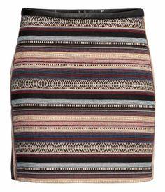 Jacquard-weave skirt - H price: £14.99