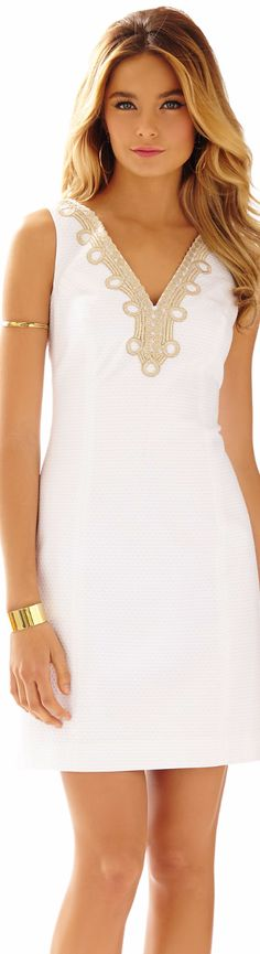 LILLY PULITZER BENTLEY V-NECK SHIFT DRESS