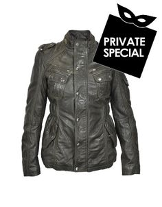 Dark Brown Leather Jacket w/ Quilted Lining -  Dark Brown Leather Jacket w/ Quilted Lining Forzieri Secret 50% OFF Special, not accessible from our public site. Use code: PLATINUMCODE. Limited time only. Quilted lining gives this stylish brown leather jacket extra warmth while an elasticized belt at the back of the waist accentuates your...