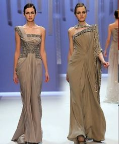 taupe brown gowns