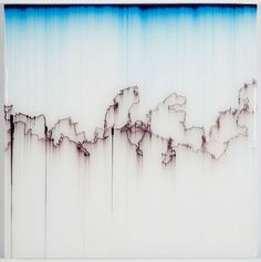 Pen Blow 63 - Shane McAdams - Brooklyn-based artist and writer.  Uses ink extracted from ballpoint pens for a lot of his art