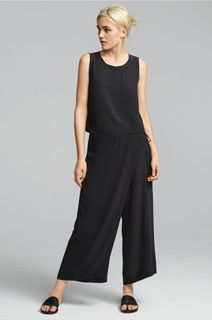 EILEEN FISHER Spring Icons Collection: Silk Shell + Wrap Pant