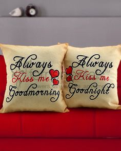 Gift her a soft and comforting Kiss on this Romantic Gifts, Ferns, Valentine Gifts, Kiss, Throw Pillows, Gift Ideas, Toss Pillows, Gifts For Valentines Day, A Kiss