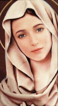 Hail Mary full of grace! Mother Of Christ, Jesus Mother, Blessed Mother Mary, Divine Mother, Blessed Virgin Mary, Image Jesus, Jesus Christ Images, Jesus Art, Mother Mary Images