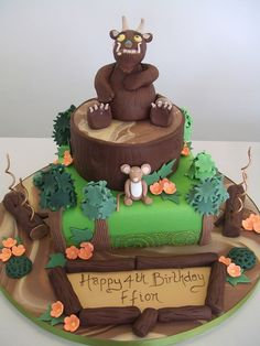 Gruffalo cake Who is the best? Who wins the trophy? Unique Cakes, Creative Cakes, Gruffalo Party, Chocolate Mayonnaise Cake, Birthday Cake Girls, Novelty Cakes, Yummy Cupcakes, Cakes For Boys, Love Cake