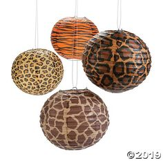 These lanterns are perfect party decorations for your tropical or safari theme party! Throwing an animal print bachelorette party? You can't celebrate without these perfect party accents! Find more party supplies to fit your occasion on our website. Jungle Theme Classroom, Jungle Theme Parties, Safari Theme Party, Safari Theme Baby Shower, Jungle Theme Food, Classroom Decor, Safari Theme Bedroom, Animal Print Classroom, Rainforest Classroom