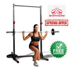 POWER RACK Pull Up Stand Bar Squat Cage Exercise Home Gym Workout Fitness Indoor #CAPBarbell