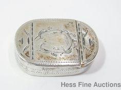 Antique 18th Century English 1700s Sterling Silver British Hinged Snuff Box #BritishSilversmith