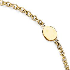 Italian 14k Gold Polished Anklet with 1in ext - 10 inches >>> Check this awesome product by going to the link at the image.