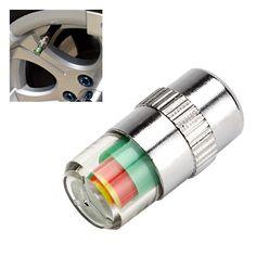Car Accessories 4pcs/lot 3 Color Alert New Car Tyre Tire Pressure Monitor Valve Stem Cap Sensor Indicator Car Styling Hot