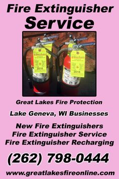 Fire Extinguisher Service Lake Geneva, WI (262) 798-0444We're Great Lakes Fire Protection.. The Main Source for Fire Protection for Wisconsin Businesses. Call Today!  We would love to hear from you.