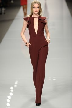 jumpsuits are it this fall - this color is spectacular. #brown #chocolatebrown