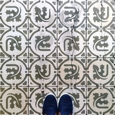 One last pic from Sant Antoni! These old #tiles are from Casa Gallofre! #TileAddiction by tileaddiction