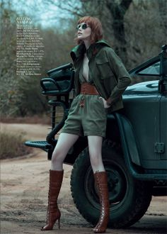 Editorial Out of Africa - Harper's Bazaar Brasil - Outubro 2013