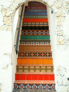 Colorful Terracotta Patio Tiles Stairs Ideas - Best Patio Design ...