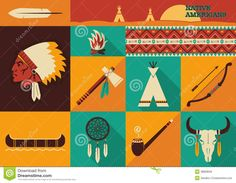 Native Americans Icons.Vector Flat Design - Download From Over 29 Million High Quality Stock Photos, Images, Vectors. Sign up for FREE today. Image: 38808050