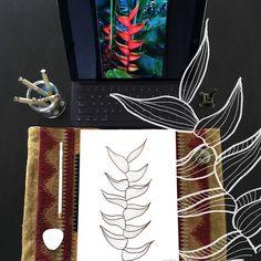 Day 5 #30ideas30days #illustration #flowers #blackandwhite #drawing #patternly.design#30ideias30dias #ilustração #flores #pretoebranco #desenhoobservacao #decolalab2016 #oficinaamandamol 