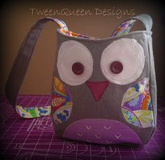 Love this owl bag by Tween Queen Designs