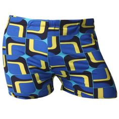 Geometric Printed Color Block Men's Sport Swimming Trunks #jewelry, #women, #men, #hats, #watches