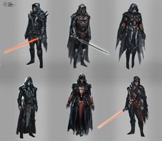 Some personal designs I made for the famous 'SW: Knights of the Old Republic' character Star Wars Darth Revan, D&d Star Wars, Star Wars The Old, Star Wars Characters Pictures, Star Wars Pictures, Star Wars Images, Star Wars Outfits, Star Wars Concept Art, The Old Republic